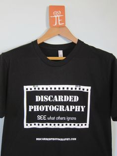 Custom t-shirt made for Alexandre of Discarded Photography.  The graphic you see on the front is also on the back of the shirt so Alex is able to double his advertising space.