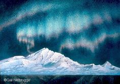 northern lights painting acrylic - Google Search