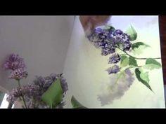 как нарисовать сирень акварелью/easy watercolor. lilac - YouTube