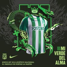 The Atlético Nacional 2018 home and away shirts introduce modern designs, made by Nike. Home And Away, Wetsuit, Baby Car Seats, Soccer, Rey, Panda, Decor, Happy, Vintage Logos