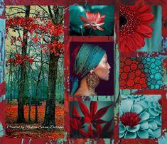 '' Stunning Colors ~ Aqua & Red '' by Reyhan Seran Dursun