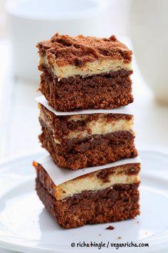 Tiramisu Cheesecake Brownies. #Glutenfree #Vegan #Nutfree Recipe   Vegan Richa