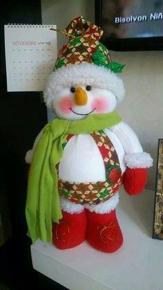 Noel sentado #PapaNoelyaviene Felt Christmas Decorations, Christmas Art, Christmas Stockings, Christmas Ornaments, Holiday Decor, Felt Snowman, Snowman Crafts, Globe Ornament, Felt Ornaments