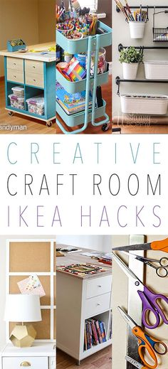 It is time for yet another fun IKEA Hack Collection and this time we are going to be focusing on Craft Room IKEA Hacks. Yes…all of the hacks here today would work amazingly well in your craft room or space. We have some more complex ones like Crafting Work spaces and then most of these …