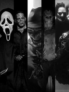 Ghostface, Michael Myers, Freddy Krueger , Jason...