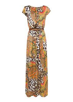 maxi vestido de print de leopardo de Mango