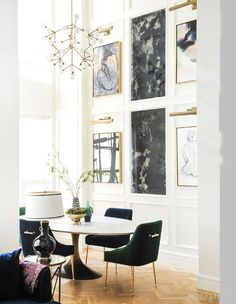 This Designer's European-Inspired Condo Will Give You Wanderlust room design art deco This Designer's European-Inspired Condo Will Give You Wanderlust Room Design, Dining Room Design, Luxury Dining Room, Home Decor, House Interior, Apartment Decor, Parisian Apartment Decor, Global Home Decor Style, Parisian Interior