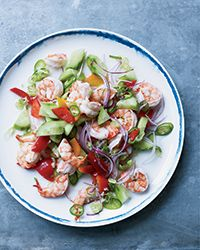 Poached Shrimp with Coconut Water and Lime Recipe on Food & Wine