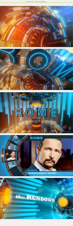 Rome /// Opener /// FBF for CBS Sports by Alkanoids, via Behance