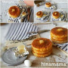 バターとシロップのシンプルなパンケーキ