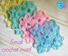 The Small Crochet Motif is so pretty and simple. There are many ways to use them in your crochet designs.