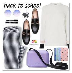 Back to school by mada-malureanu on Polyvore featuring L.K.Bennett, Lands' End, Skinnydip, Christian Dior, LOOKY, BackToSchool, rainyday, sweaterweather, falltrend and heylookylou