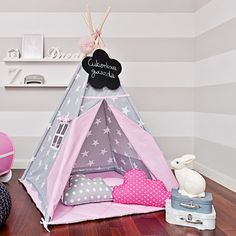 Teepee Kids Play Tent Tipi Candy Star by FUNwithMUM on Etsy