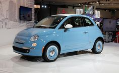 2015 Fiat 500 Pop Hatchback Blue Color