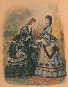 fripperiesandfobs: La Mode Illustrée, 1870