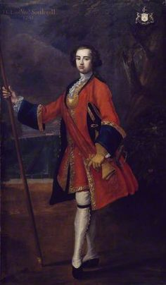 """Lieutenant Thomas George Southwell, Coldstream Guards"", Charles Jervas, 1739; National Army Museum NAM. 1964-02-5"