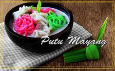 Indonesia Food Putu Mayang with Keraton's Oragnic Coconut Sugar. recipes at https://www.facebook.com/Organic-Coconut-Sugar-1633155540258841/?ref=hl