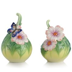 Butterfly Cosmos of Color Salt and Pepper Shaker Set