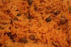 Puerto Rican Food - Arroz Con Gandules.  Christmas Dinner 2012