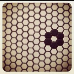 Love this penny tile floor // cool detail