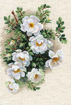 White Briar Cross Stitch Kit By Riolis