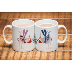 300aaa4206e89 These unique personalised mugs feature a beautifully illustrated love bird  with a name of your choice