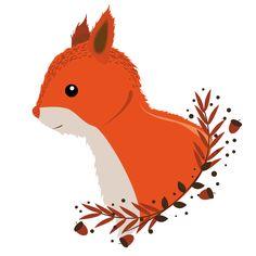 Un petit écureuil d'automne pour une jolie affiche !