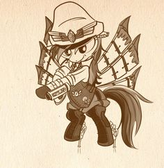Steampunk My Little Ponies - So much awesome! By betweenfriends. http://betweenfriends.deviantart.com/