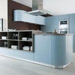 Schmidt keuken ronde kasten Moon Nordik Blue