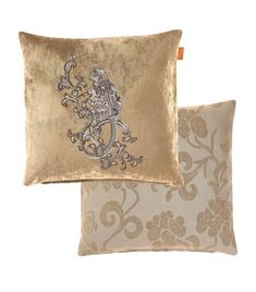 Etro Nemuro Embroidered Cushion X In Beige Embroidered Cushions, Eclectic Style, Harrods, World Of Fashion, Luxury Branding, Reusable Tote Bags, Velvet, Beige, Prints