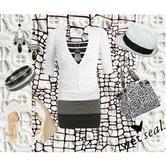 Black and white make me look fabulous, created by me, sugarbear98.polyvore.com