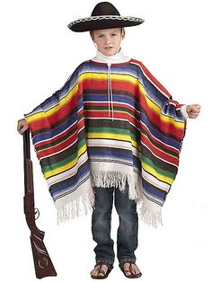 Mexican Poncho Costume for Children