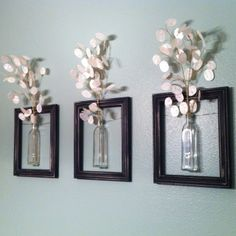 Love Frames Online | DIY Hanging picture frame vases. Frames. Wire. Vases. | Contemporary