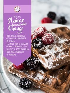 ¡Conocé los diferentes usos de nuestra azúcar impalpable Chango! :)  #Repostería #Bakery Cereal, Breakfast, Tips, Desserts, Food, Flood Icing, Merengue, Deserts, Morning Coffee