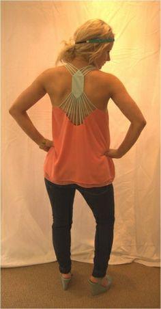 Kara Coral Top with Mint Straps $22 Blush Boutique In Dayton, Ohio