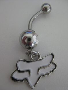 Fox racing belly button ring