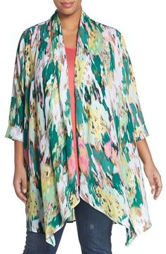 Melissa McCarthy Seven7 Print Cover-Up (Plus Size)