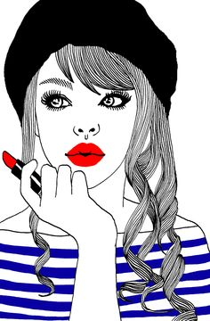 Hajin Bae sailor paris girl illustration