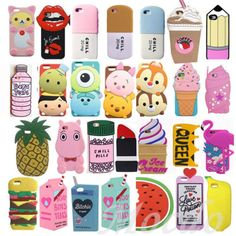 3D Cartoon Pattern Soft Silicone Phone Case Back Cover For IPhone 5 5S 6 6S Plus | eBay