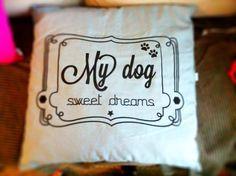 Diseño de camita para perro, estampado en terciopelo 60x60 cm
