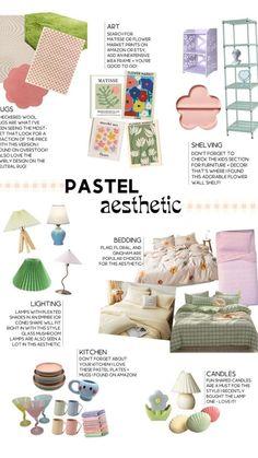 Pastel Room Decor, Pastel Bedroom, Cute Room Decor, Decorations For Room, Room Design Bedroom, Room Ideas Bedroom, Bedroom Inspo, Ideas Dormitorios, Pastel Interior