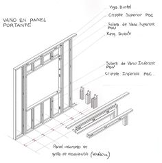 CONSTRUCCIONES: PANELES Metal Stud Framing, Steel Framing, Sistema Drywall, Steel Stairs, New Home Construction, Steel House, Building A New Home, Metal Buildings, Steel Structure