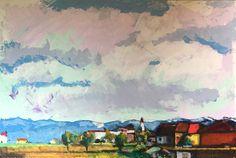 """""""Il cielo d'estate"""" - acrilico e olio su tela cm. 150x100"""