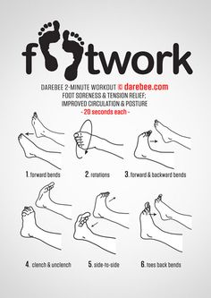 few ways to workout those feet!A few ways to workout those feet! Ankle Exercises, Foot Stretches, Ballet Stretches, After Workout Stretches, Stretches For Runners, Workout Exercises, Darebee, Dance Tips, Yoga Routine