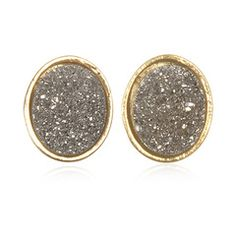 i think i could make these with mod podge, glitter, and old gold earrings