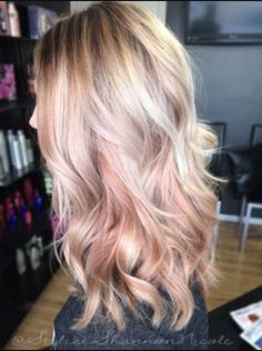 Rose Gold and Blonde: when my hair gets longer, I'm so doing this!