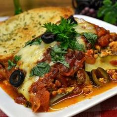 Zucchini Lasagna With Beef Sausage. From Allrecipes. Yum! I substitute ...