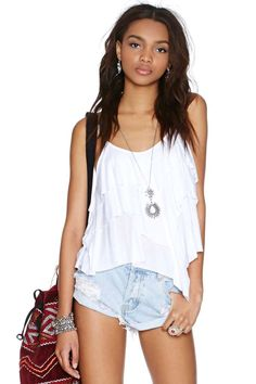 Nasty Gal Frill Seeker Top
