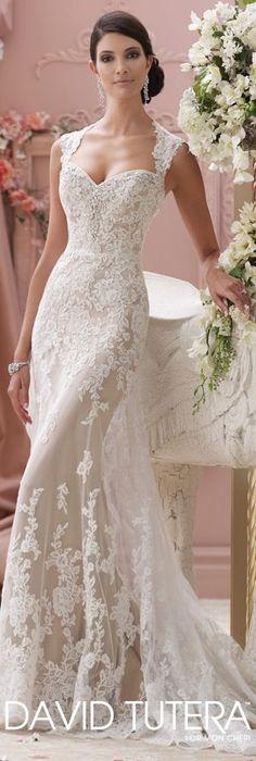 The David Tutera for Mon Cheri Spring 2015 Wedding Dress Collection - Style No. 115229 Lourdes #laceweddingdresses