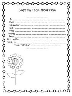 MOTHER'S DAY POETRY BOOK - TeachersPayTeachers.com
